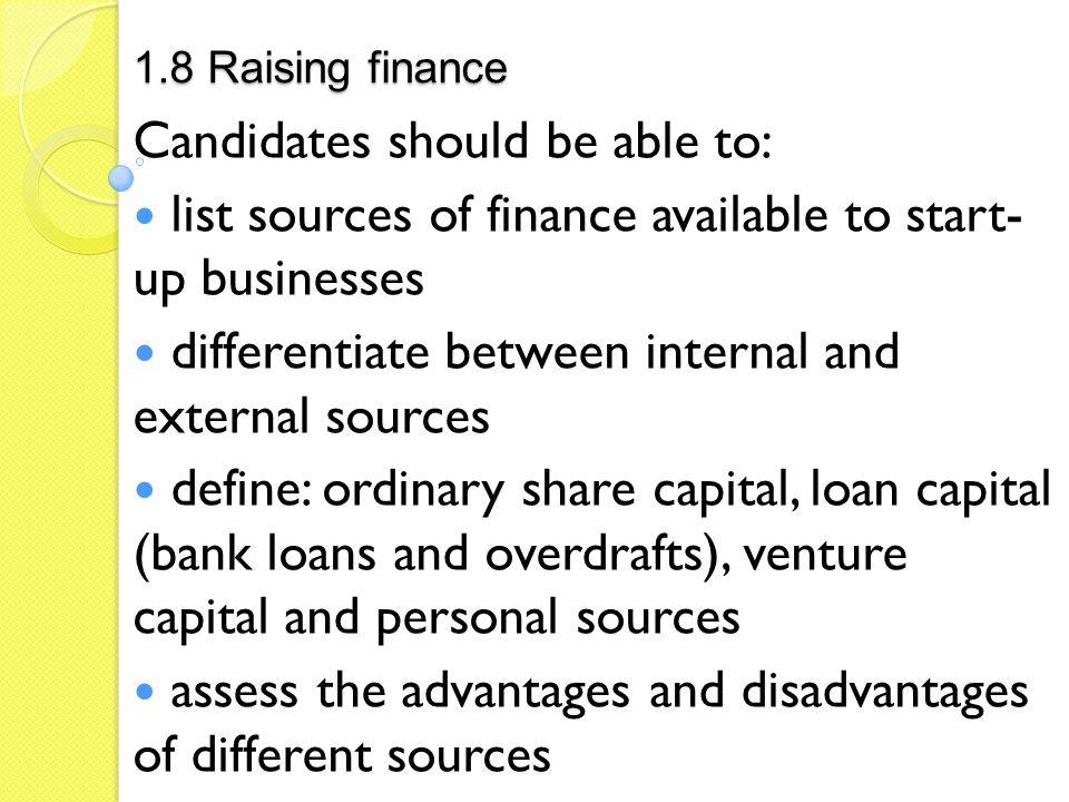 define internal sources of finance