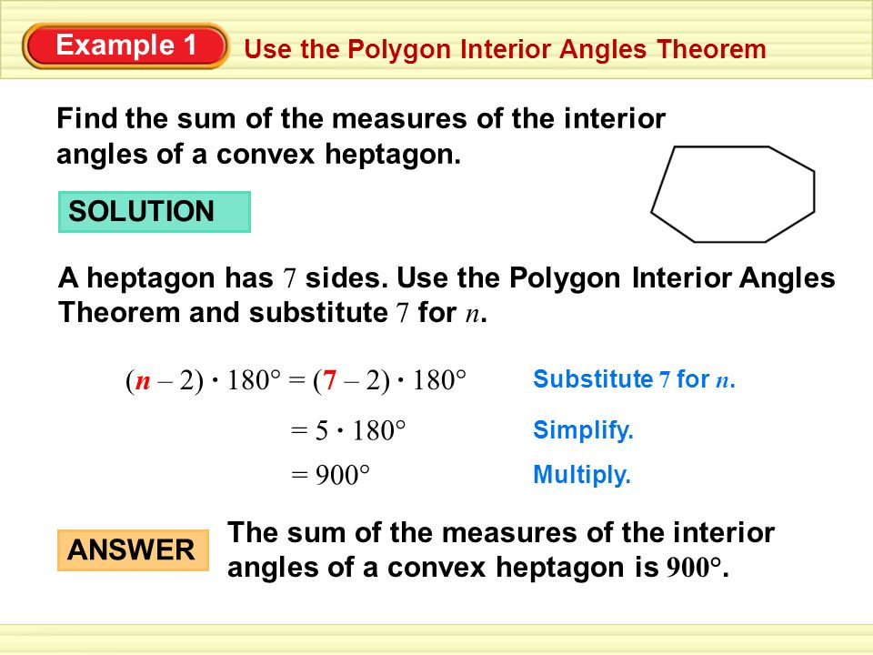 Section 8 2 Find The Measures Of The Interior Angles Of A