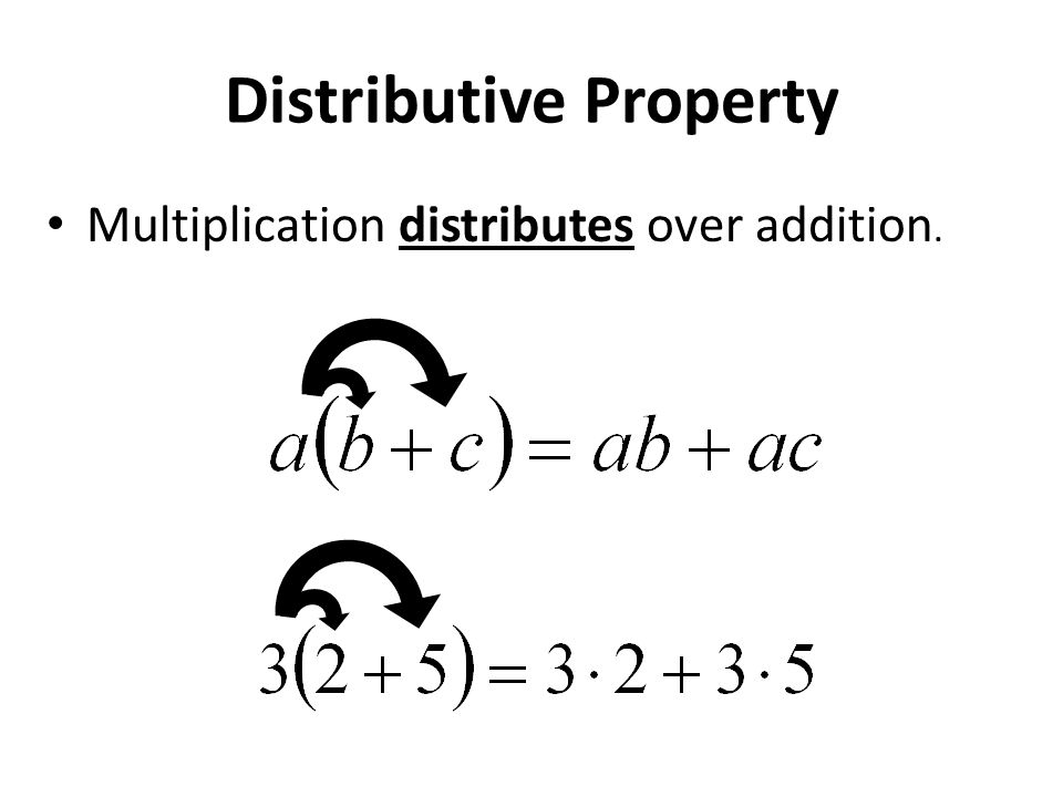 Associative Properties Changing the grouping of the numbers in addition or multiplication will not change the result.