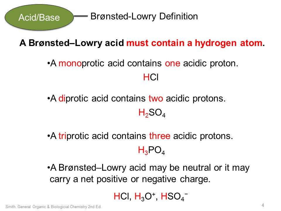 Chapter 9 Acids Bases General Organic Biological Chemistry Janice Gorzynski Smith Ppt Download