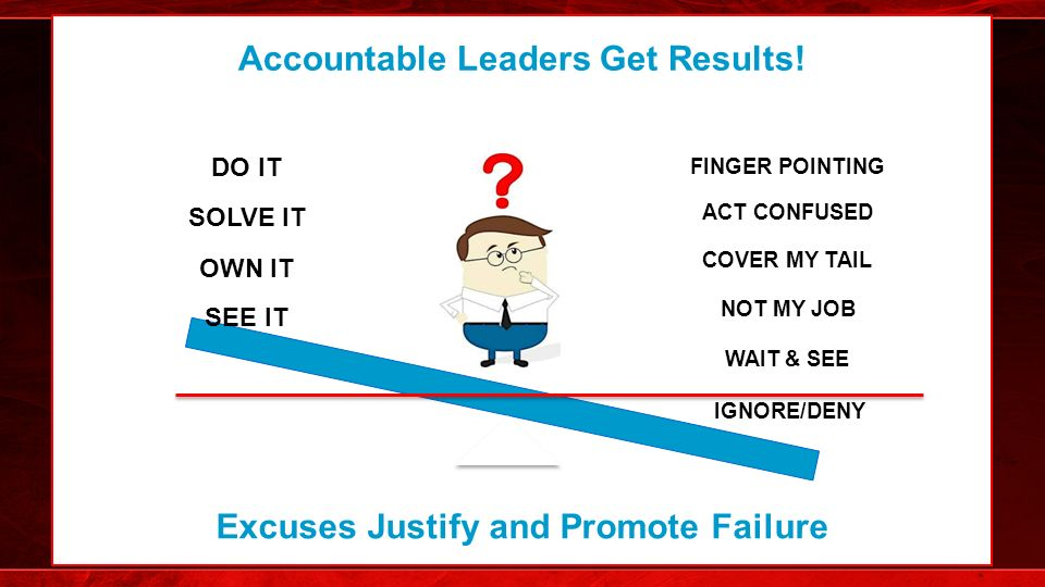 Using oz wisdom to drive a culture of leadership accountability see it own it solve it do it ignoredeny wait see not my freerunsca Image collections
