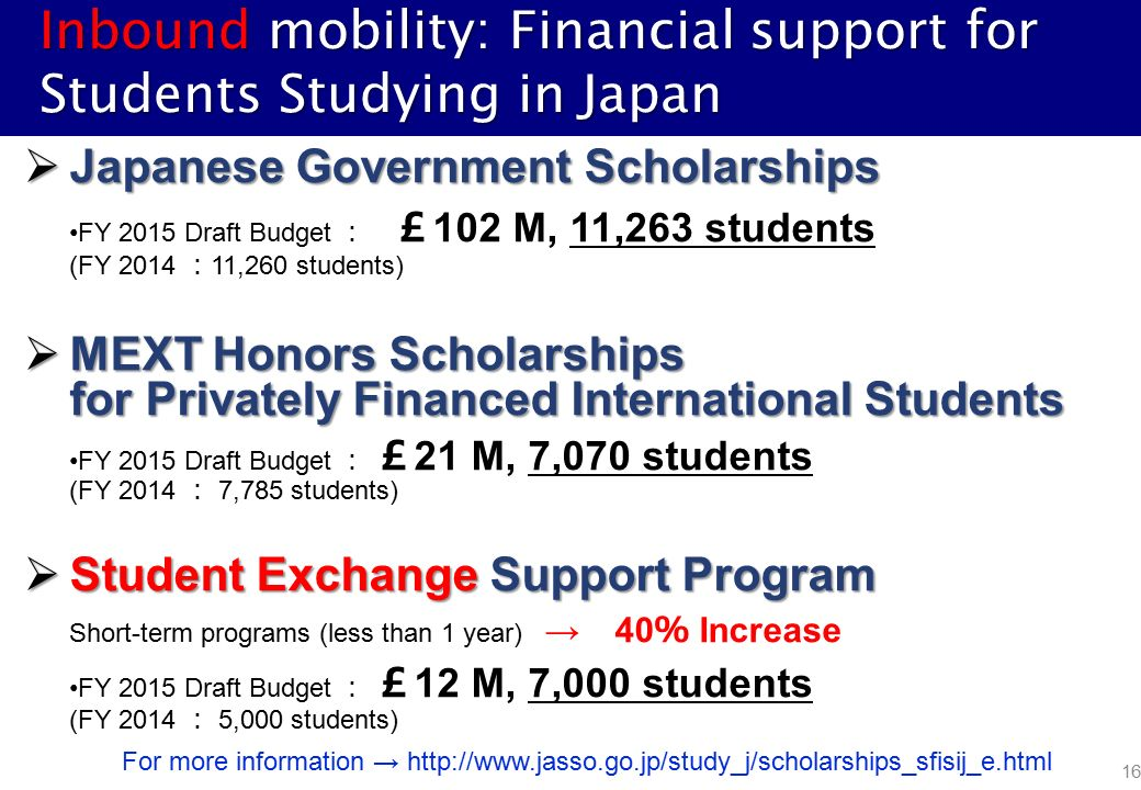 Japan's Strategies for Student Mobility towards 2020 Eiji
