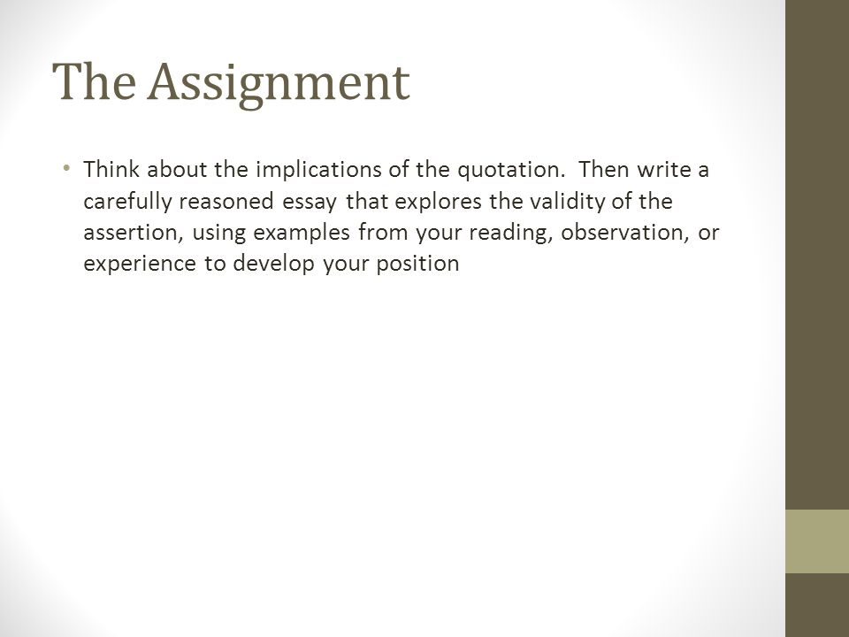 What're Some Good Theme For Observation Essay