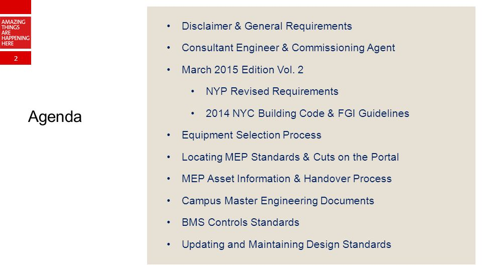 2 Disclaimer & General Requirements Consultant Engineer & Commissioning Agent March 2015 Edition Vol.