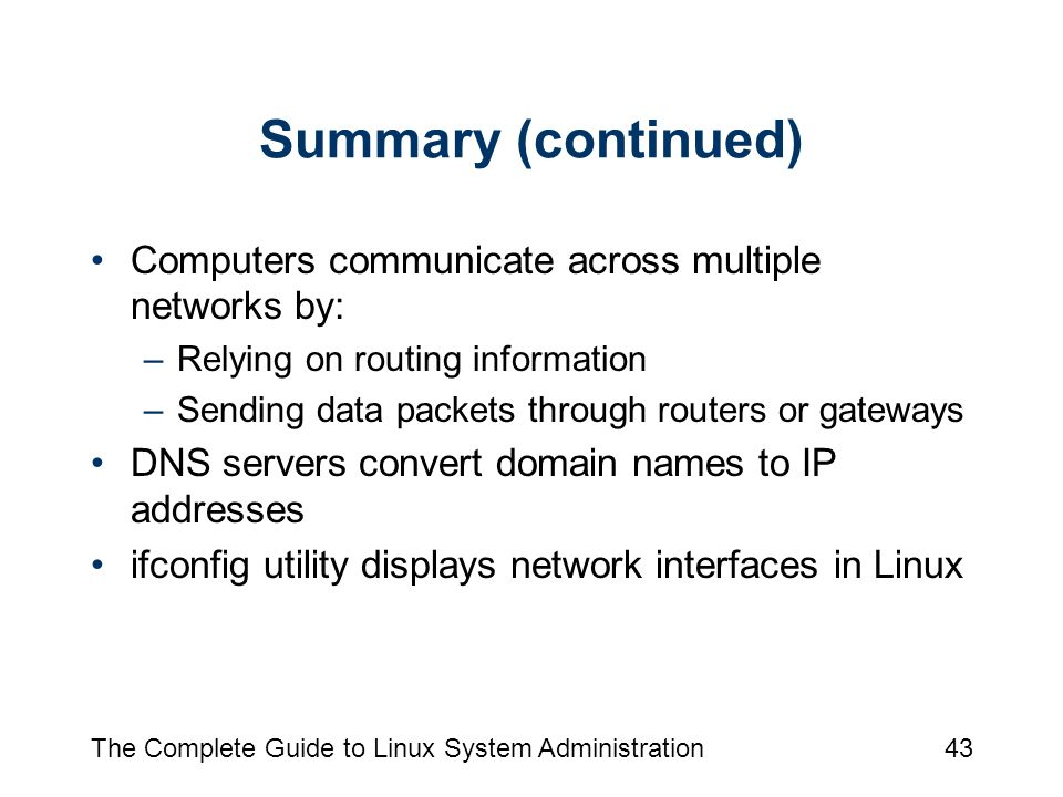 Chapter 7: Using Network Clients The Complete Guide To Linux System