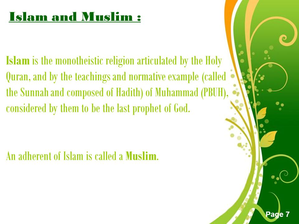 Free powerpoint templates page 1 free powerpoint templates the free powerpoint templates page 7 islam and muslim islam is the monotheistic religion articulated by toneelgroepblik Images