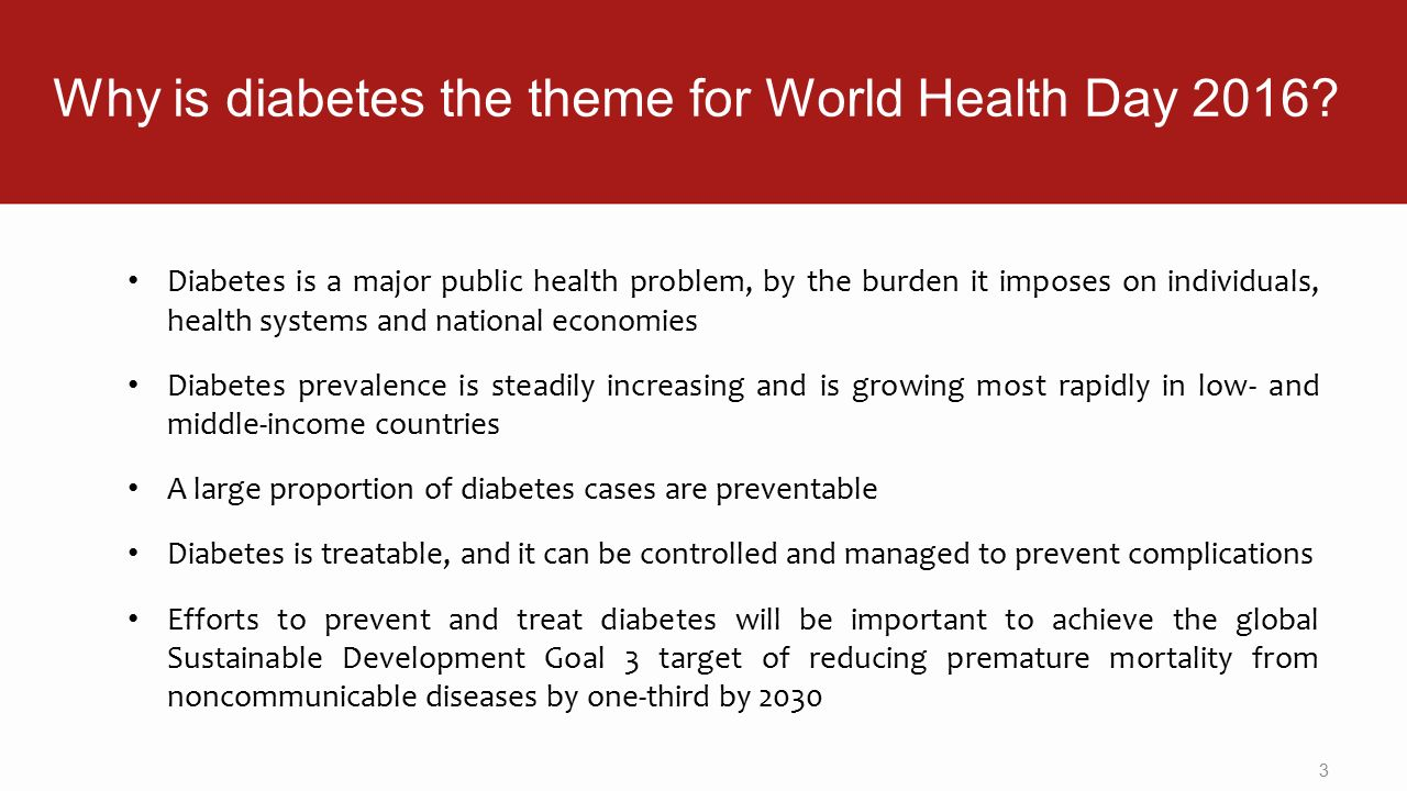 Why Is Diabetes The Theme For World Health Day 2016