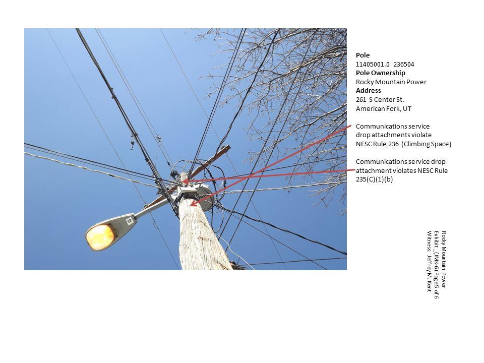 Pole Pole Ownership Rocky Mountain Power Address 220 S 100 E