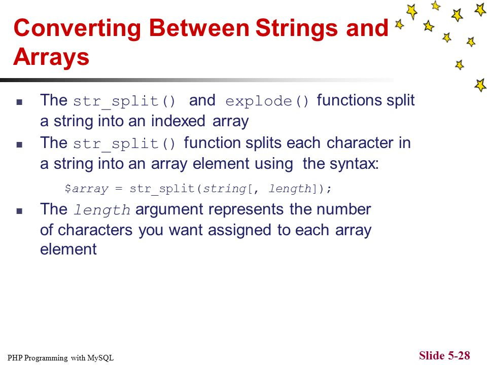 PHP Programming with MySQL Slide 5-1 CHAPTER 5 Manipulating