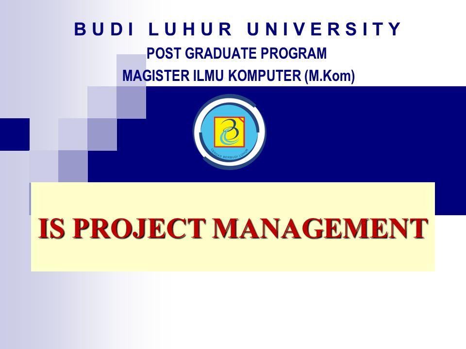 B U D I L U H U R U N I V E R S I T Y Post Graduate Program Magister