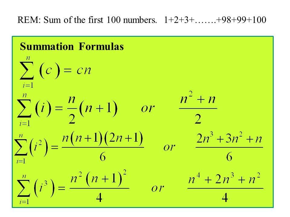 Exact Accumulation And Ap Calculus A Sigma Notation Rem Ex