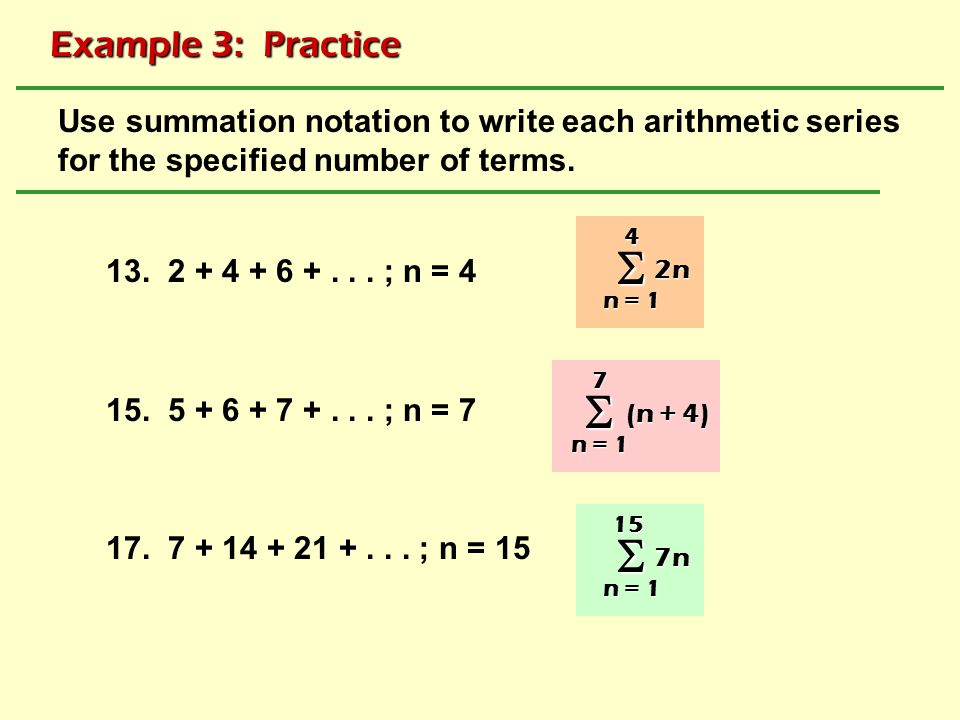 sigma notation rules