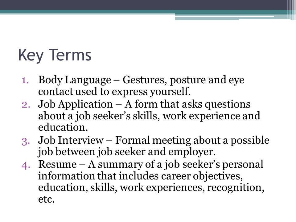 Job search key terms 1dy language gestures posture and eye 2 key thecheapjerseys Image collections