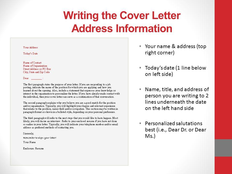 Cover Letter Address Left Or Right