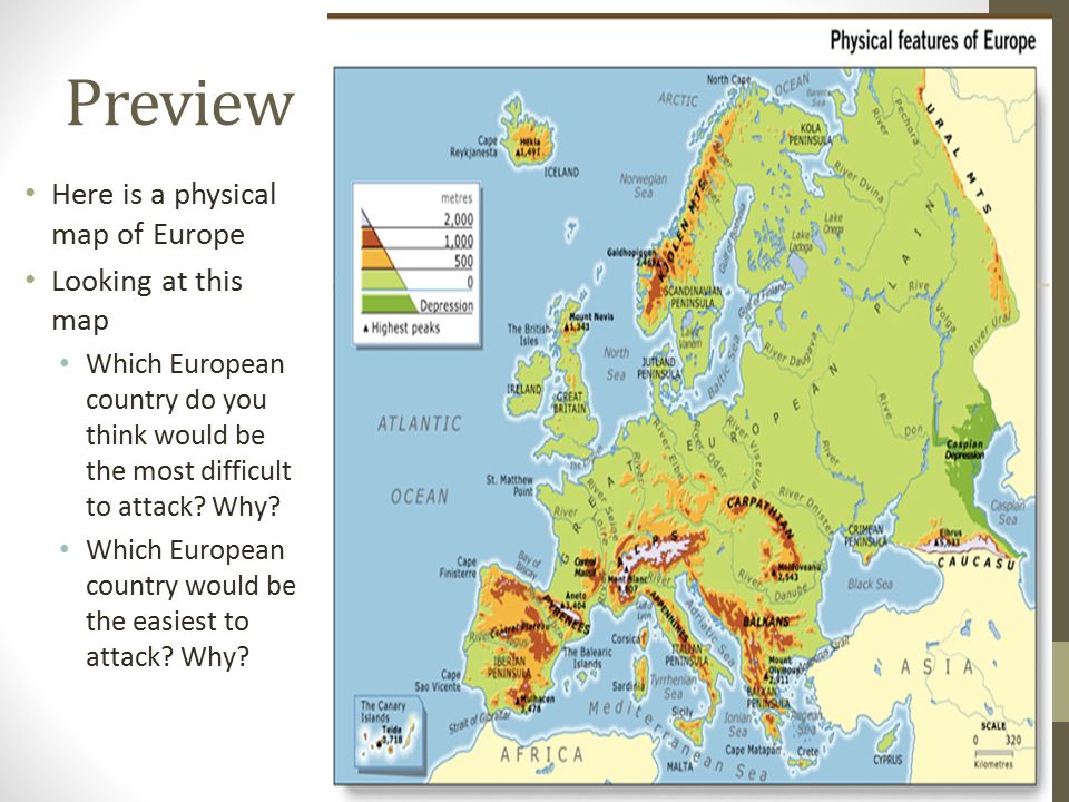 Preview Here Is A Physical Map Of Europe Looking At This Map Which European  Country Do
