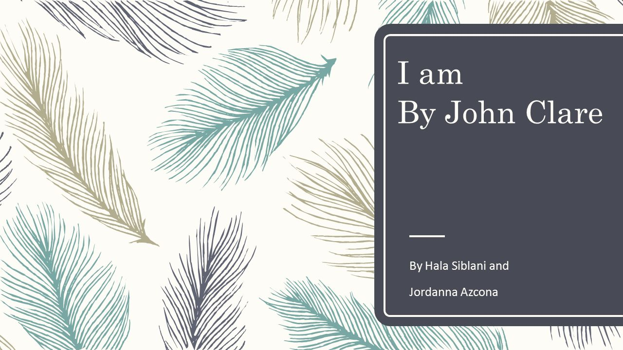 i am john clare meaning