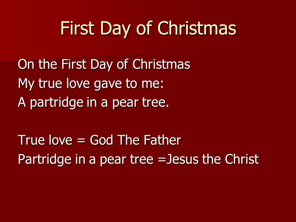 The Twelve Days Of Christmas A Song Rich With Symbolism Ppt Download