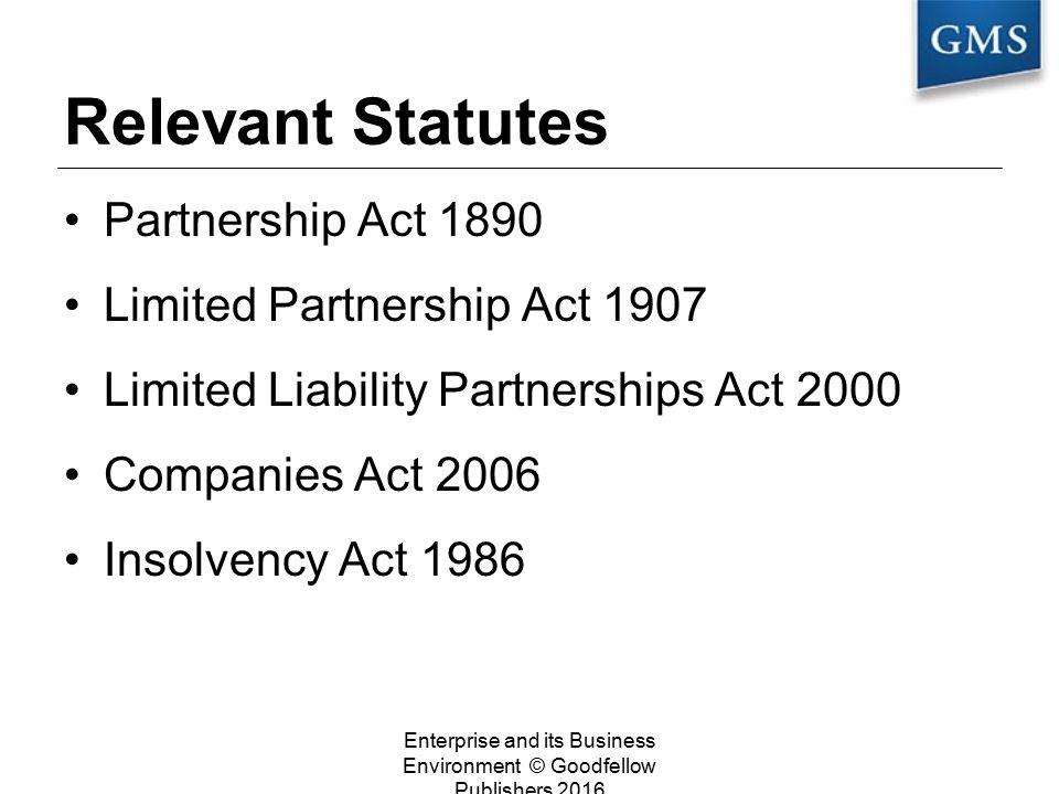 partnership act 1890 summary