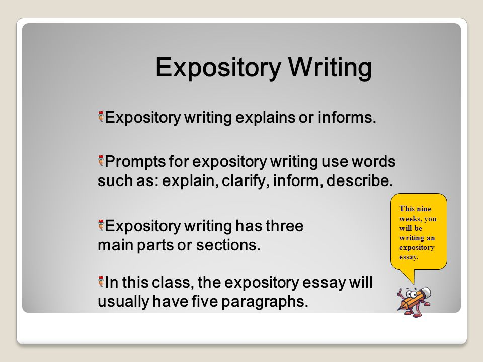 which statement best describes an expository text