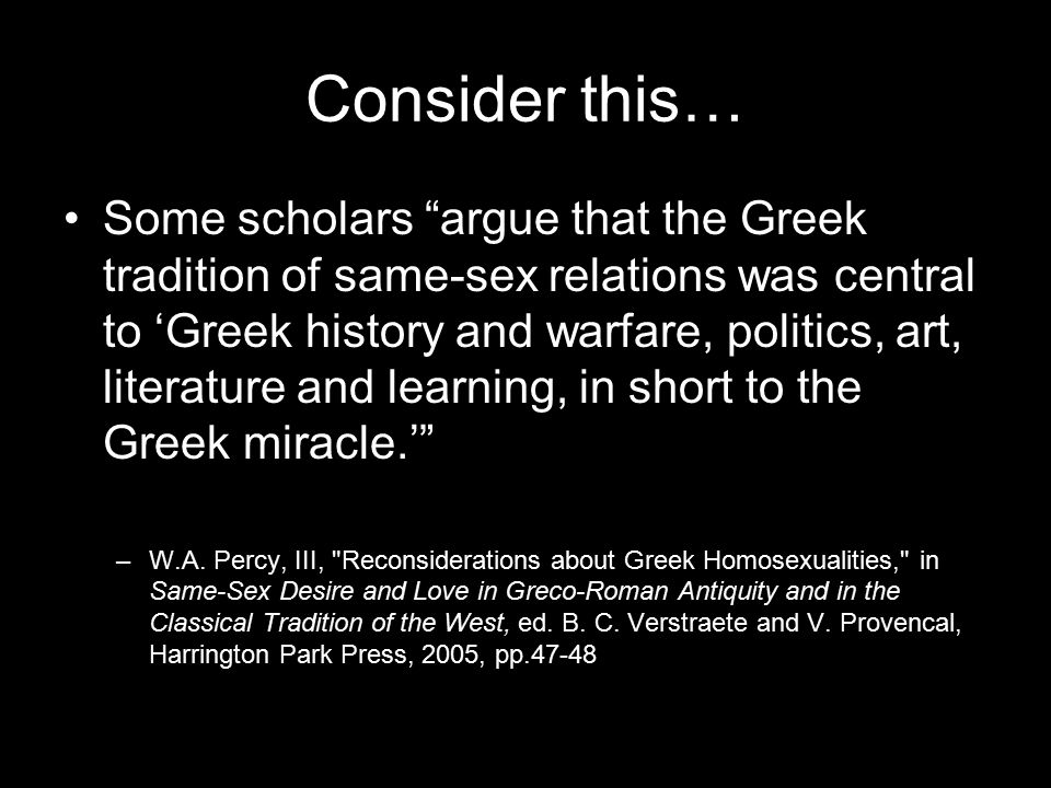 Reconsiderations about greek homosexualities
