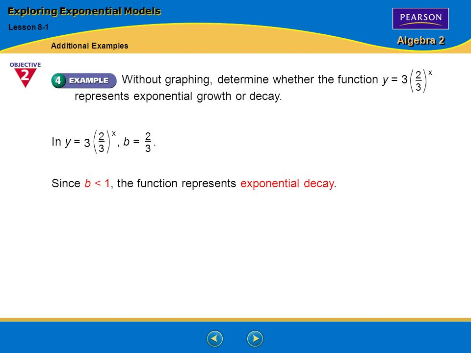 Algebra 2 Exploring Exponential Models Lesson Ppt Download