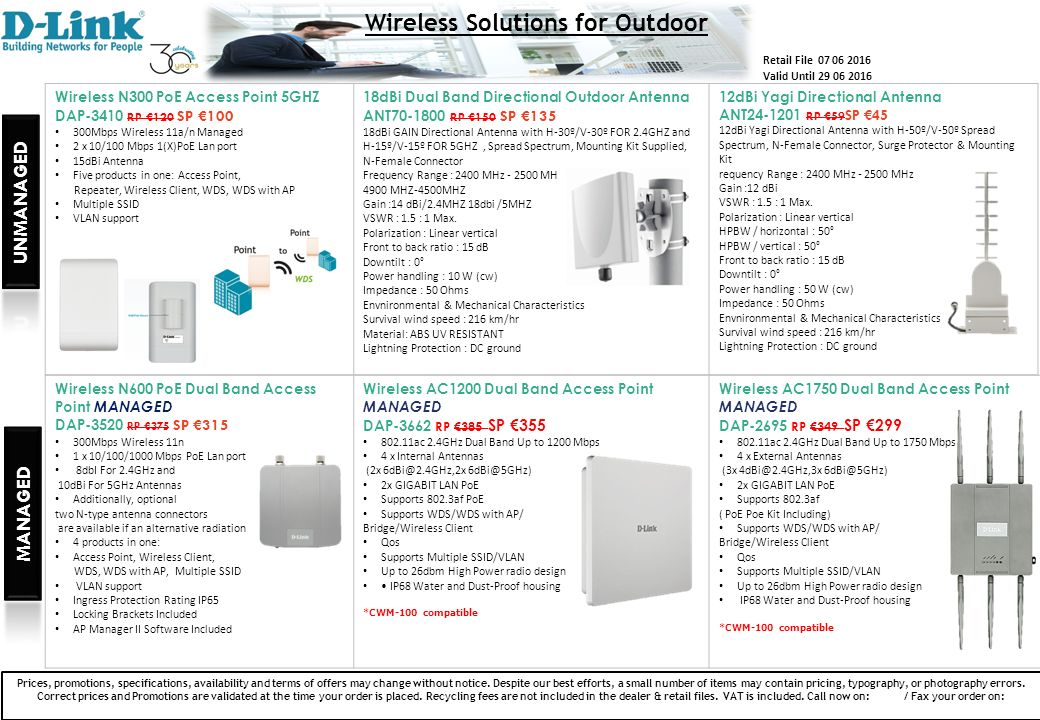 Wireless Solutions Special Offers June Wireless N Access Point DAP