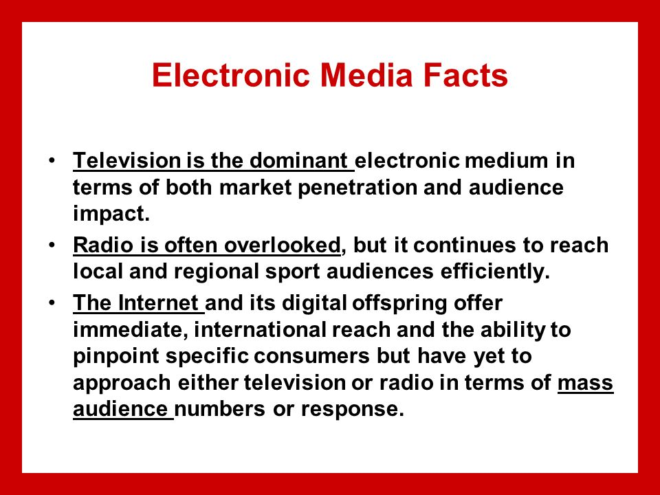 Here against audience penetration by media