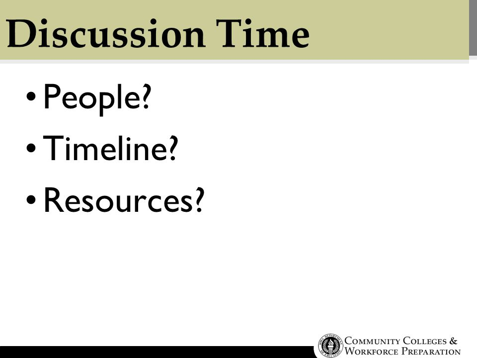 Discussion Time People Timeline Resources