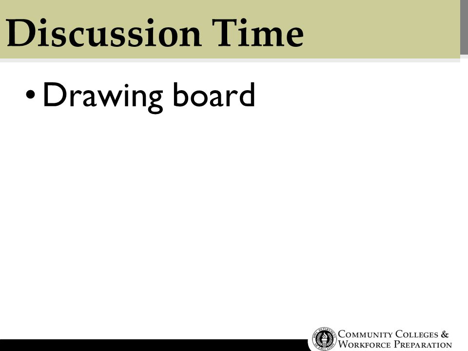 Discussion Time Drawing board