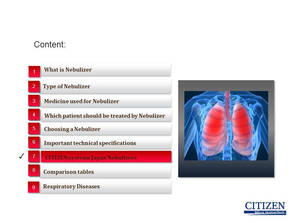Nebulizer Segment  Content: Type of Nebulizer Choosing a Nebulizer