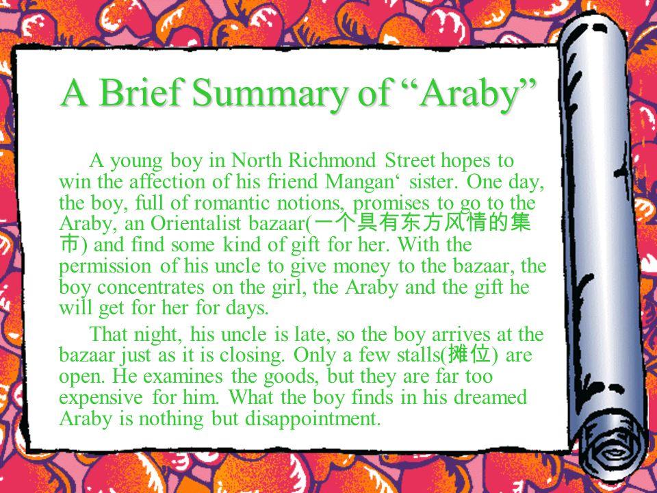 araby literary analysis