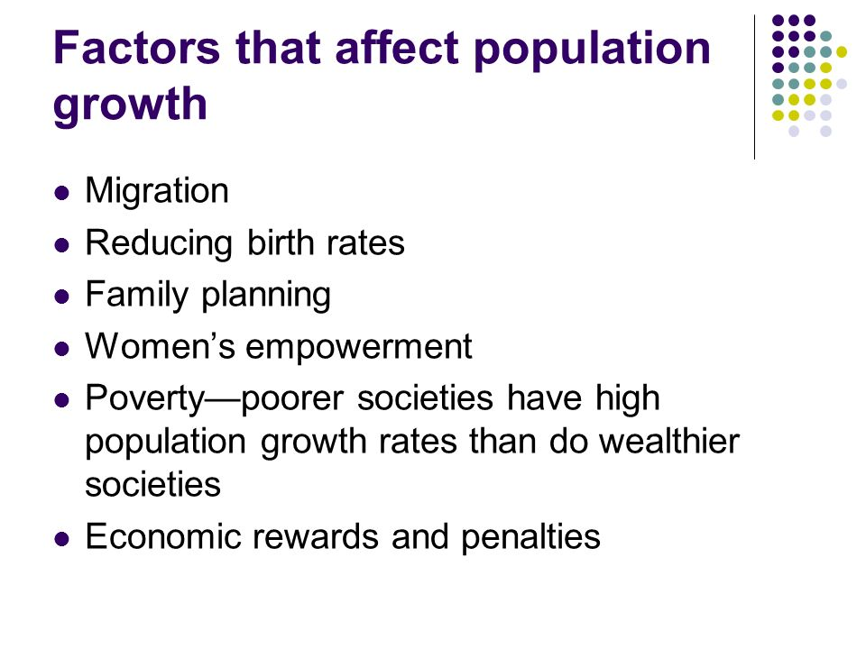 what factors affect population growth