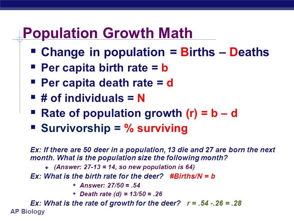 Ap Biology Population Ecology Population Ecosystem Community