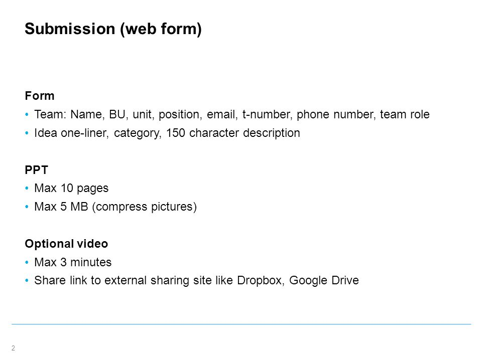 Telenor Ignite Application Submission Template. 2 Submission (web ...