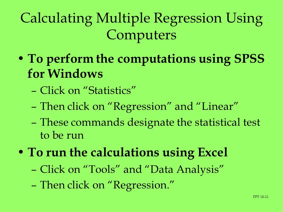 PPT 18-1 Correlation/Regression RELATIONSHIP ANALYSIS  - ppt