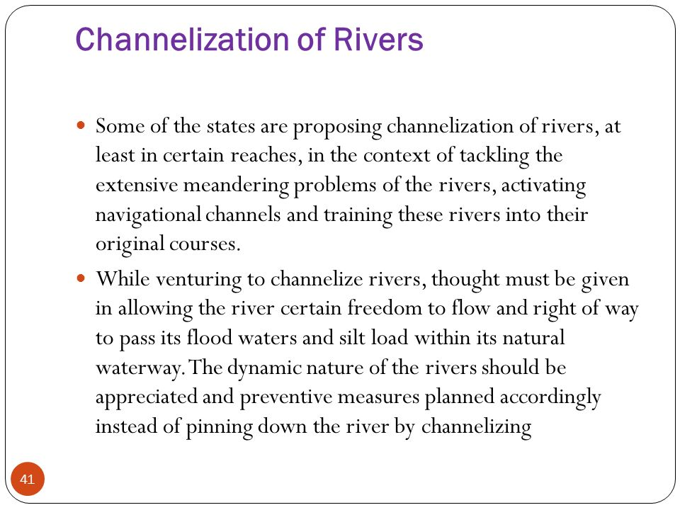 channelization of rivers