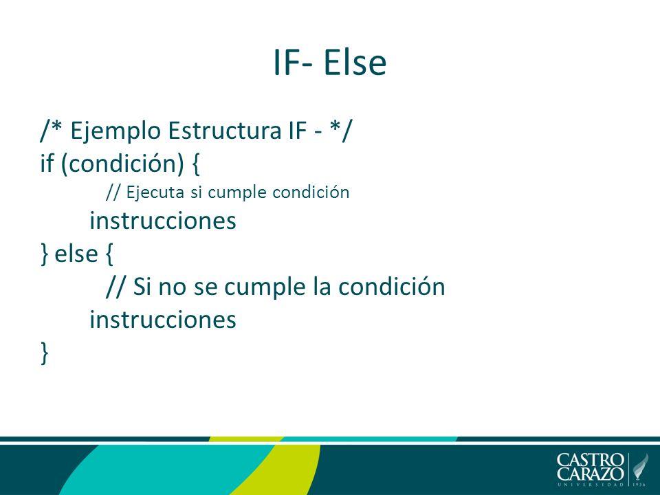 Programación I Estructuras De Control Java If Else Ppt