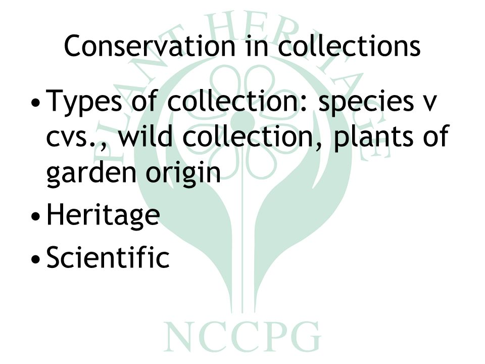 plant heritage conserving cultivated plants plant conservation and