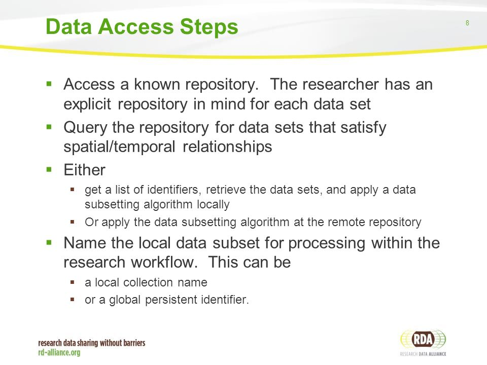 8  Access a known repository.