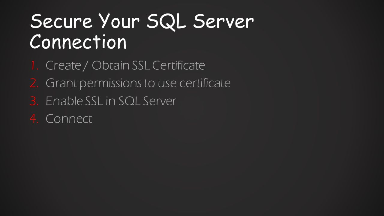 Hacking Expos Using Ssl To Protect Sql Connections Ppt Download