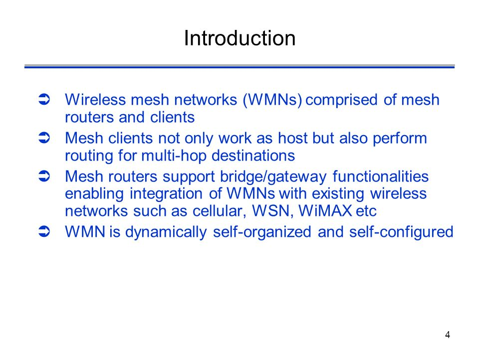 1 Wireless Networks Lecture 31 Wireless Mesh Networks Dr