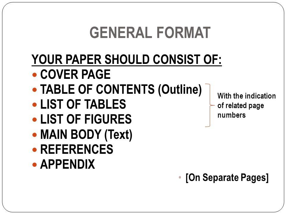 Çankaya university inar 405 research paper format apa style ppt