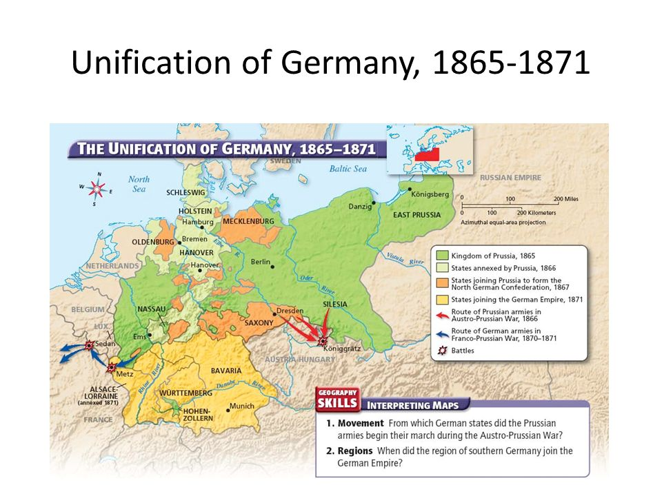 assess the main reasons for the unification of germany in 1871 2 The unification of germany in 1815, thirty-nine german states had formed a loose grouping that was called the german confederation the two larges states, the austro-hungarian empire and prussia, dominated the.