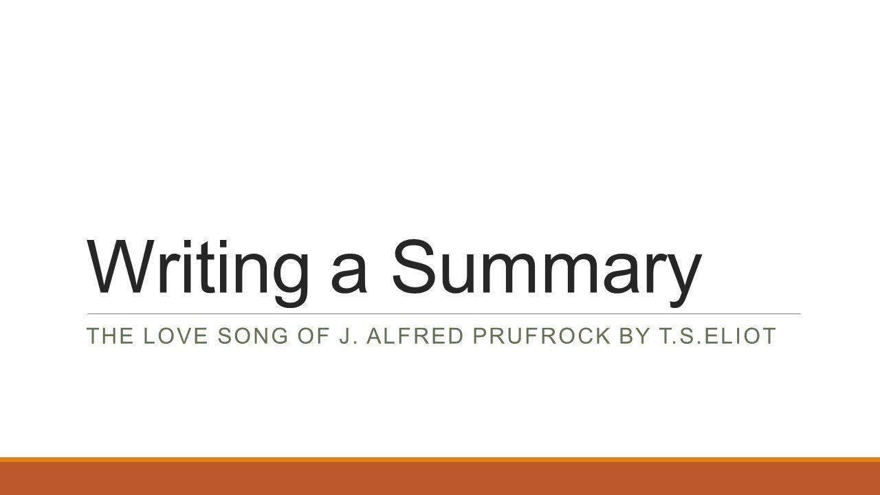 the love song summary