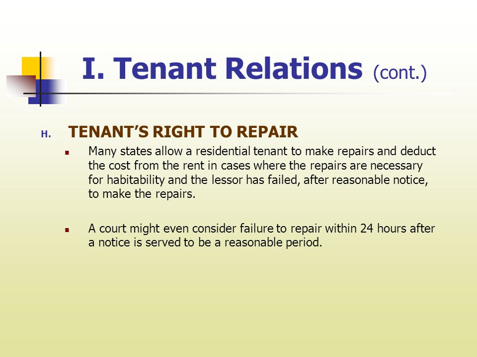 chapter 14 tenant and owner relations i tenant relations a tenant