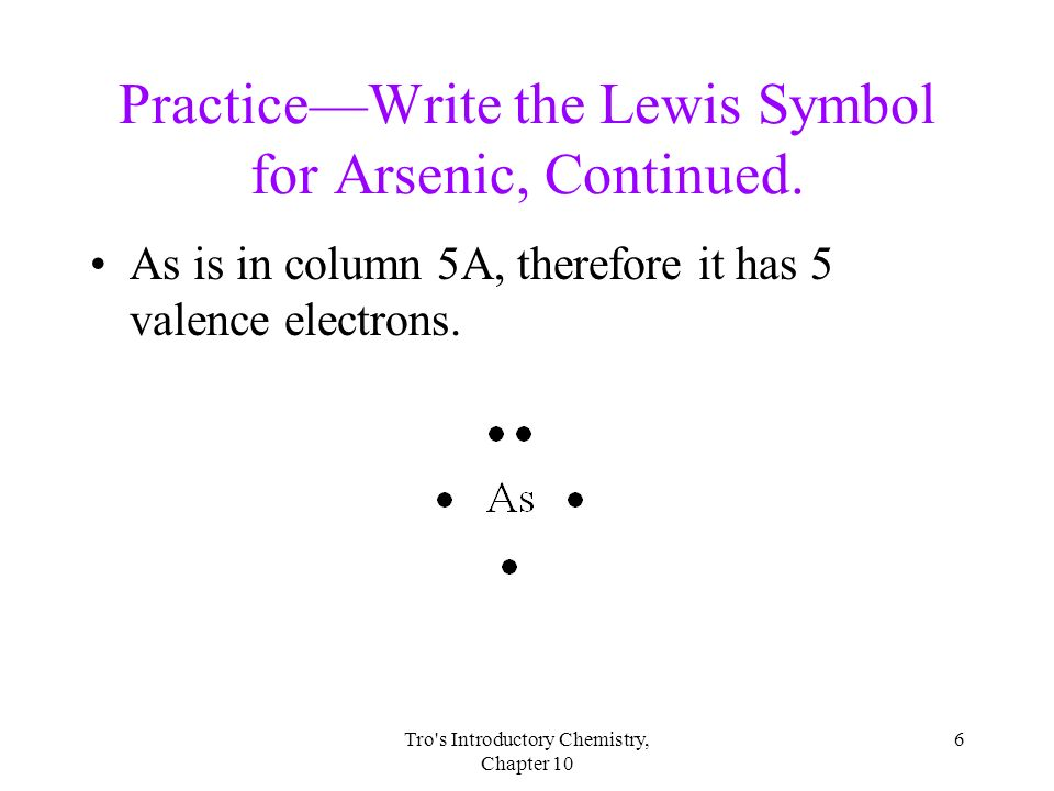 Arsenic Dot Diagram Of The Element Auto Electrical Wiring Diagram