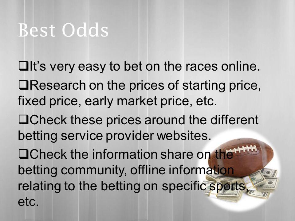 Fixed price sports betting jalan menuju muara betting raja