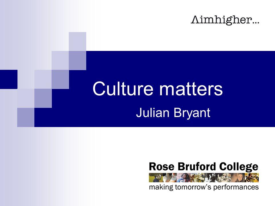 Cultural Activity Matters >> Culture Matters Julian Bryant Cultural Activity More Than Just A