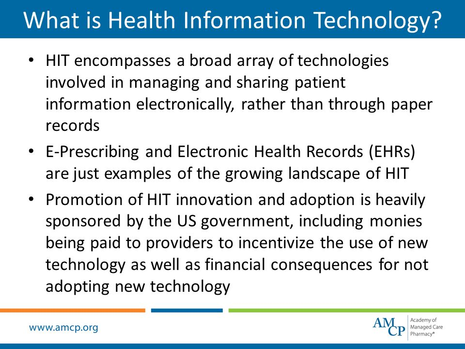 What Is Health Information Technology