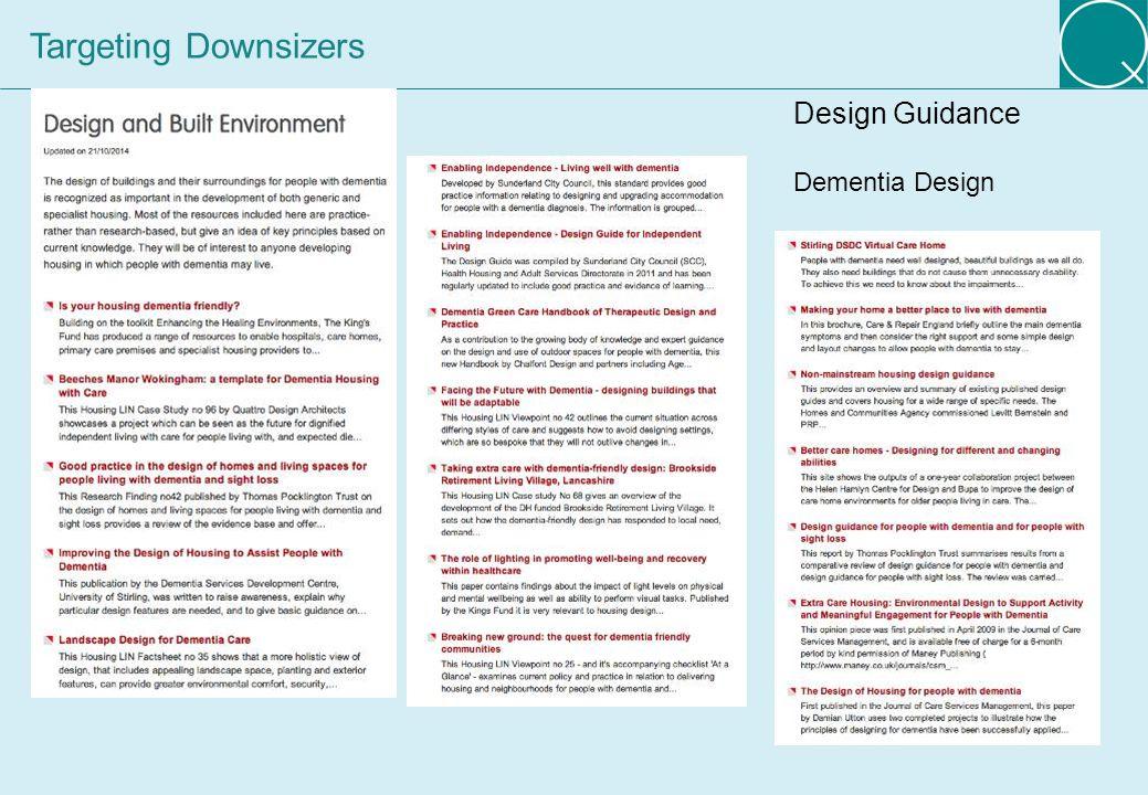 12 Design Guidance Dementia Design Targeting Downsizers